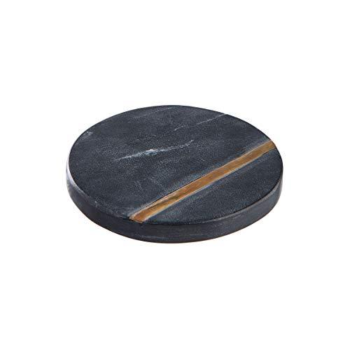 Butlers MARBLE 4x Untersetzer mit Goldstreifen Ø10cm