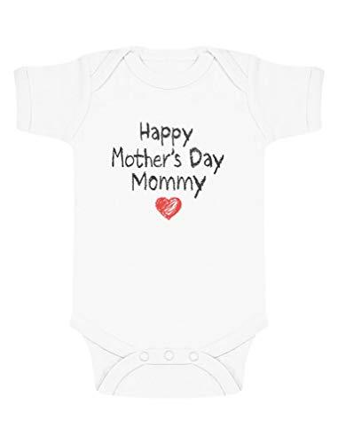 Green Turtle Happy Mother's Day Mommy - Fête des Mères Body Bébé Manche Courte 3-6 Mois Blanc