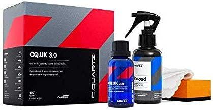 CARPRO CQUARTZ UK 3.0_50ml Kit w/Reload - Ceramic Coating Finish, Quartz Based Nanotechnology, Bonds to Paint, Glass, Metal and Plastic