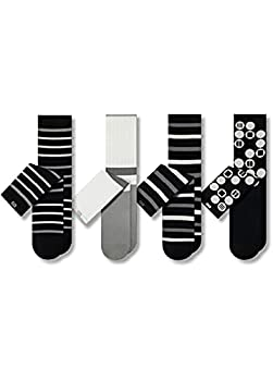 Pair of Thieves Men's 4 Pack Cushion Crew Socks Circles One Size