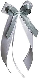 25 Antennenschleifen Autoschleifen Autoschmuck Hochzeit SCH0119 weiß silber grau