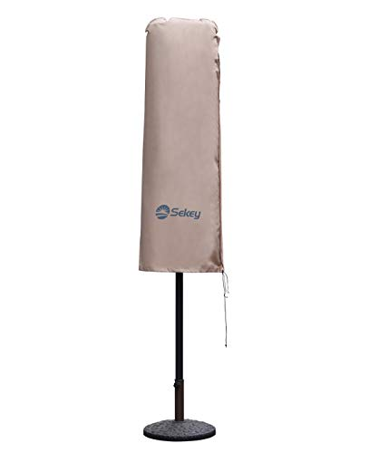 Sekey Schutzhülle für DoppelSonnenschirm, Abdeckhauben für Sonnenschirm,100% Polyester, Taupe - 270 x 460 CM