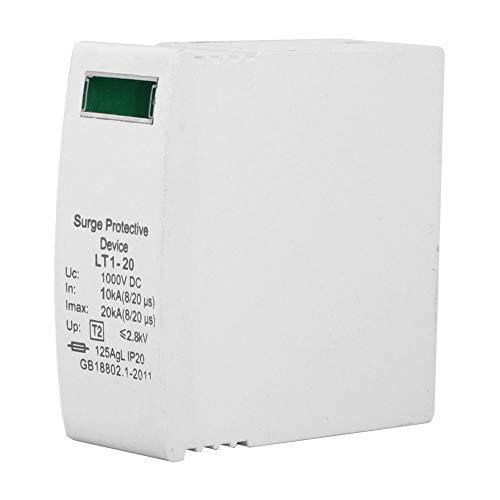 Überspannungsschutzschalter, 2PCS Überspannungsschutz DC Photovoltaik Überspannungsschutzgerät Überspannungsableiter 1000VDC(1-20KA)