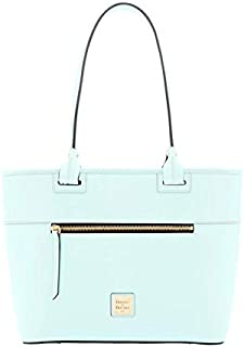 Beacon Vachetta Leather Zip Tote - Pale Blue
