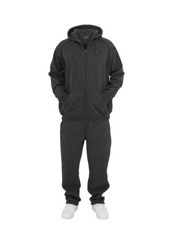 Urban Classics Jogginganzug Suit Sweatsuit Trainingsanzug blanko Blank schwarz grau dunkelgrau charcoal S bis 5XL Farben Männer Herren Sportanzug Fitness Tanzanzug Dance (3XL, dunkelgrau charcoal)