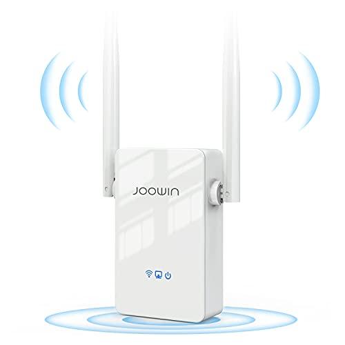 JOOWIN Ripetitore WiFi 300Mbps WiFi Extender 2.4GHz Wireless Amplificatore WiFi, Modalità Ripetitore/Router/AP/Bridge, Ripetitore WiFi potente con WPS, Ripetitore WiFi Ethernet