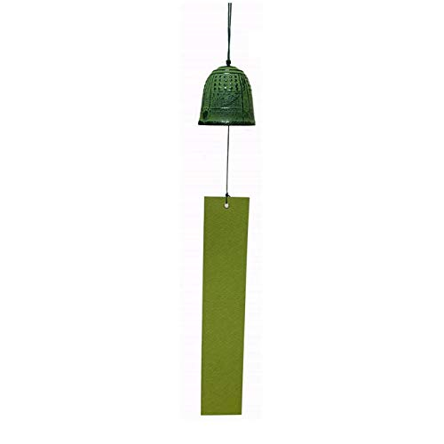 Heiyemon Japanisches Windspiel Nambu Eisen Tempelglocke grün Farbe Furin (Large)