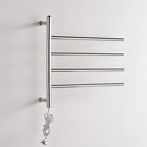 WRH Towel Warmer Drehbare Wand Befestigter Edelstahl-Elektrischer Badheizkörper/Bad-Heizkörper/Handtuchwärmer 9007
