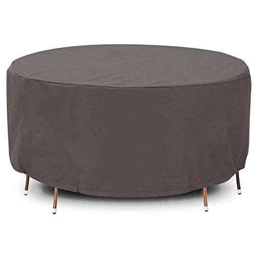 Round Garden Furniture Covers 40x25cm, 420D Heavy Duty Patio Furniture Covers, Waterproof Rip Proof Garden Table Cover Anti-UV Patio Rectangular Winter Patio Set Cover