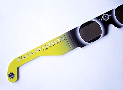 Perspektrum 5 Stück sichere Sonnenfinsternisbrillen (SOFI-Brille) ... Brillen zur Beobachtung von totaler und partieller Sonnenfinsternis, Planetenpassage BZW. Transit (mit hochwertiger Schutzfolie)