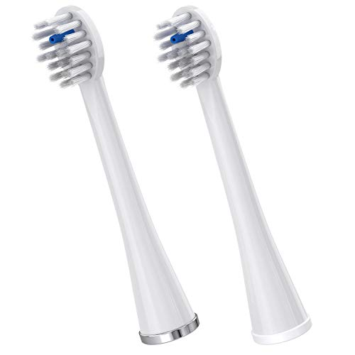 Waterpik Replacement Brush Heads for Sonic-Fusion Flossing Toothbrush SFRB-2EW, 2 Count White