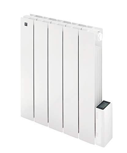 Radiatore Elettrico Alluminio Griso 900W Basso Consumo, Riscaldamento fino a 11 mq - Termostato digitale Programmabile Deltadore - Bianco