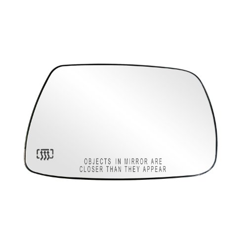 Fit System 30265 Jeep Grand Cherokee Right Side Heated Power Replacement Mirror Glass with Backing Plate