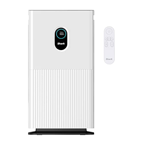 Shark HE601 Air Purifier 6 True HEPA Covers up to 1200 Sq. Ft, Captures 99.98% of Particles, dust, allergens, viruses, Smoke, 0.1–0.2 microns, Advanced Odor Lock, Quiet, 6 Fan, White