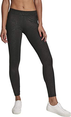 Urban Classics Damen Yoga-Hose Ladies Pattern Leggings, Schwarz Black Snake 02354, W(Herstellergröße: XL)