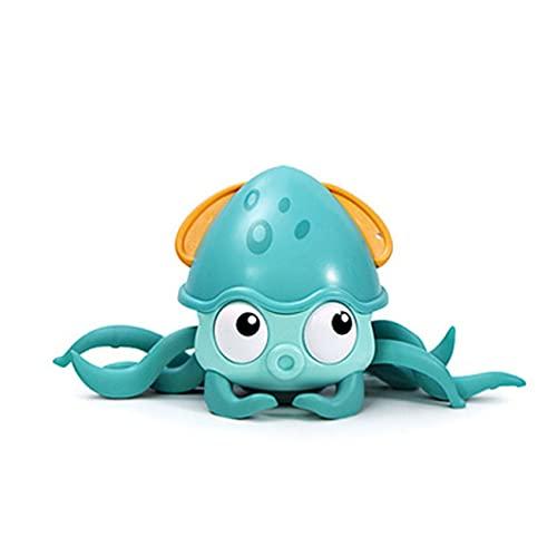 Uniqueheart Pulpo Juguete de baño Natación Flotante Dibujos Animados Animal Bañera Juguete para niños Aprendizaje temprano y educación Fidget Toys Regalo - Verde 25X11X13Cm