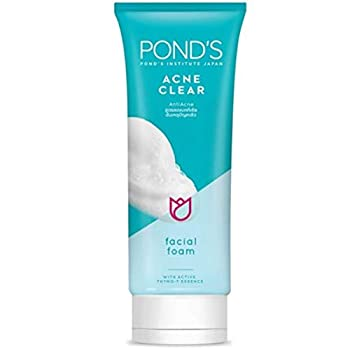 Pond s Acne Clear AntiAcne Facial Foam with Active Thymo-T Essence 100g