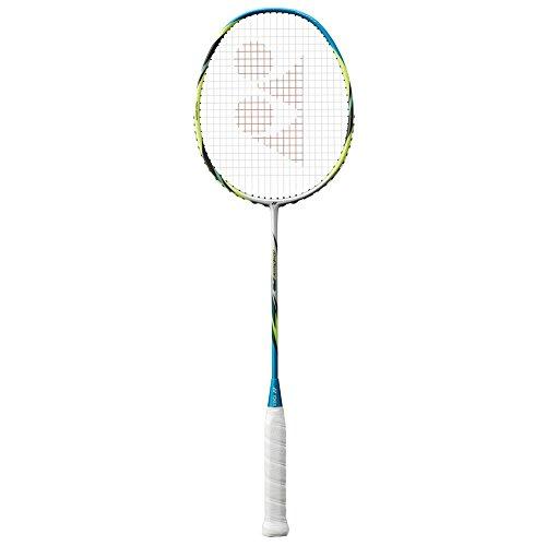 YONEX Badmintonschläger Arcsaber FD, weiß/rot, Strung BG65 @24lb