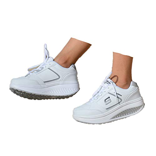 Berimaterry Zapatillas Deportivas Mujer - Zapatos Mujer Plataforma Zapatillas Cuñas Mujer con Malla Fitness Sport Running Sneakers Running Sneakers Respirable Zapatos Deportivas de Mujer