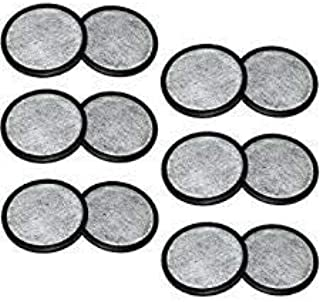 PURE GREEN 12-Pack of Mr. Coffee Compatible Water Filter Discs - Fit Mr Coffee Compatible Filters - Replacement Charcoal Water Filter Discs for Mr Coffee Coffee Brewers