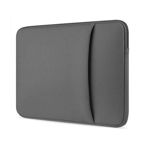 Toshiba Tecra Laptoptasche - Laptop Hülle - Schutzhülle für Laptops - 14 Zoll - mit Seitliche Tasche - Grau
