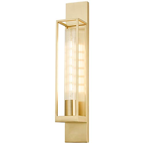 XLTT Lámpara de Pared postmoderna Simple de Cobre, luz nórdica, Sala de Estar de Lujo, Dormitorio, Pasillo Creativo, Pasillo, lámpara de Pared Rectangular 600-1000 (mm)