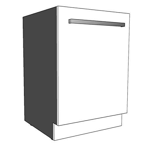 Geschirrspülersockel Sockelleiste 19mm voll-, teilintegriert und nach Maß (Weiß, 594x95mm)
