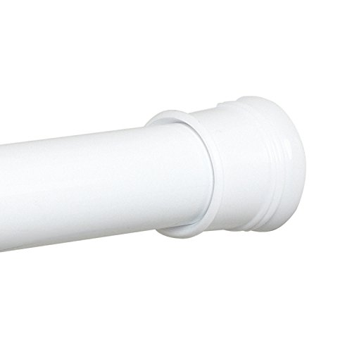 Zenna Home Tension Shower Curtain Rod, 43-72 Inches, White
