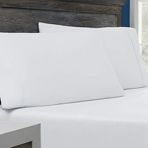 Columbia Tencel + Cotton Performance Pillowcase PK of 2 – Omni-Wick Moisture Wicking Stay Dry Technology – Naturally Soft, Cool, Breathable Temperature Regulating - SQ Pillowcases - 2PK, White