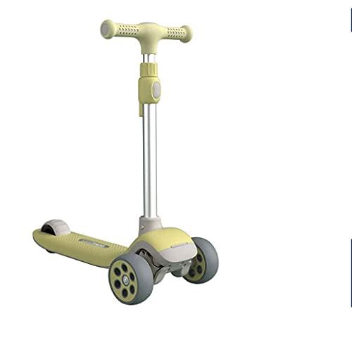 QIXIAOCYB Patear scooter con una cubierta extra ancha para niños y amp; Niños pequeños o chicos de altura ajustables magro para dirigir con ruedas de PU entrenamiento de tres ruedas ruedas