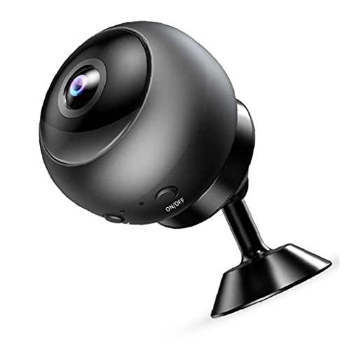 Tuimiyisou Mini cámara de Red WiFi HD 1080P cámara inalámbrica IP Secreta para la visión hogar al Aire Libre la Noche de Seguridad V380 Pantalla Mate de Almacenamiento SD Negro