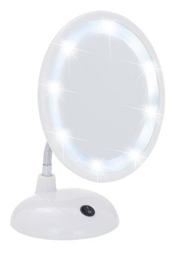 Wenko 3656441100 Miroir sur Pied Cosmétique Style Grossissement x3 Blanc