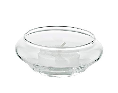 EDZARD Juego de 6 portavelas flotantes Iris de cristal soplado, diámetro...