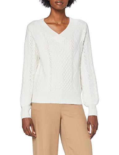 Naf Naf M-Coeur 1 Suéter pulóver, Ecru 333, XS para Mujer