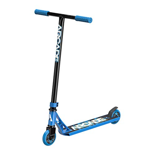 Arcade Rogue Pro Scooters for Kids 8 Years and Up (6 - 12 Years Old) – Beginner Kick Scooter / Stunt Scooter for Kids Freestyle, School Commute or Learn Trick Scooter Moves (Blue)