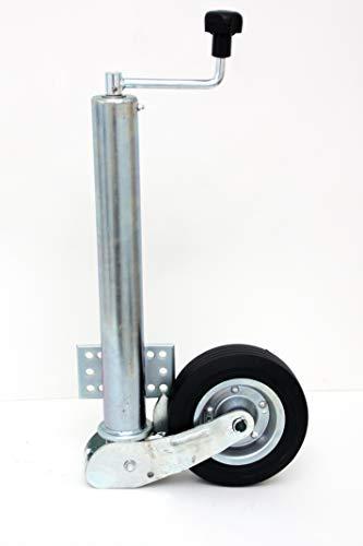 p4U Automatik Stützrad 60mm 400kg Stützlast Flacher Flansch am Rohr Anhänger Trailer