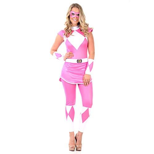Fantasia Power Rangers Mighty Morphin Rosa Adulto G