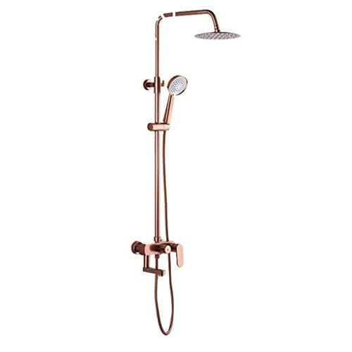Yhtech Sistema de la ducha antigua con la pared Conjunto Accesorios con grifos de agua caliente y fría Juego de ducha
