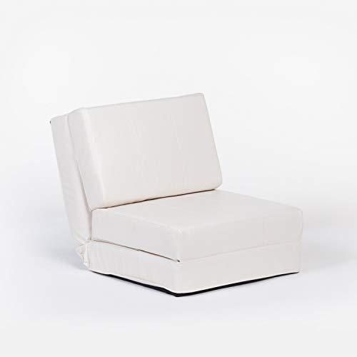 SKLUM Puff reclinable en Polipiel Deas Polipiel - (Elige Color)