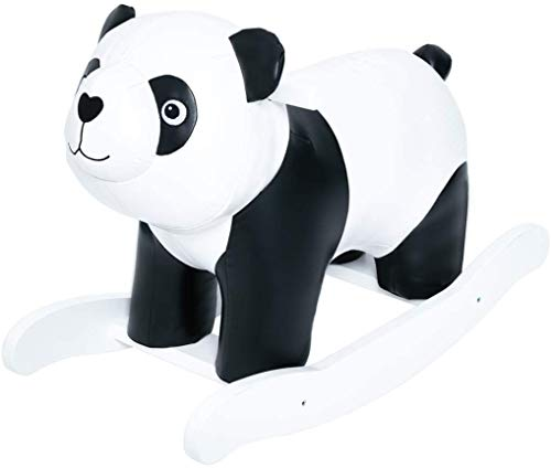 labebe Baby Rocking Horse, Kid Rocker, Panda Rocking Toy, Leather Rocking Horse, Toddler Rocking Chair, Child Rocking Animal, Outdoor Animal Rocker, Girl/Boy Ride on Toy for 1-3 Year Old
