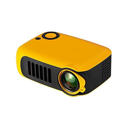 SHDREAM Proyector Smart Mini Proyector HD 1080P Soporte de proyector para el hogar 1080p Soporte de Altavoz de Alta Potencia 5V-2A Proyector de Viajes al Aire Libre de Power Bank (Color : Amarillo)