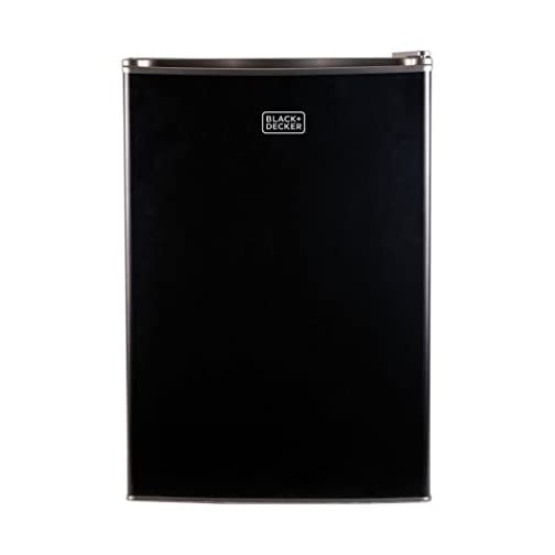 BLACK+DECKER BCRK25B Compact Refrigerator Energy Star Single Door Mini Fridge with Freezer, 2.5 Cubic Feet, Black 4