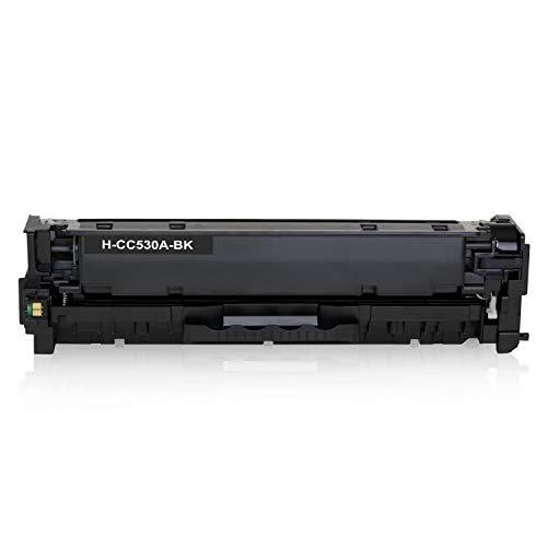 Alphafax Toner kompatibel mit HP CC530A Color Laserjet CP 2000 2020 2025 X 2024 2026 2027 DN N cm 2300 Series 2720 2320 FXI CB CBB CI EB EBB Ei N NF WB WBB WI MFP 2323-304A - Schwarz 3.500 Seiten