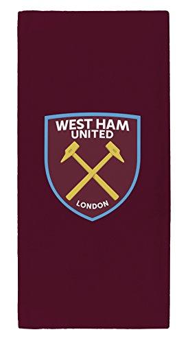 West Ham United FC West Ham United Towel, Claret, New Crest, Cotton, 70 x 140 c