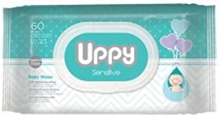 Baby Wipes by UPPY – Ideal for Diaper Bag and Traveling. Made With Purified Water. Natural Extracts. Soft Cloth. Hypoallergenic. Fresh and Clean.