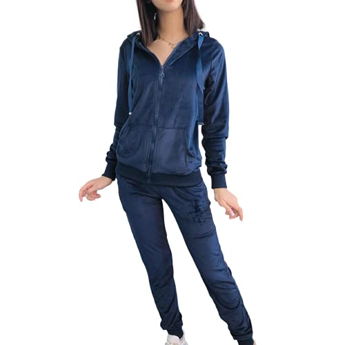 Emma & Ashley Design Survêtement Femme Ensembles Sportswear (XL, Bleu)