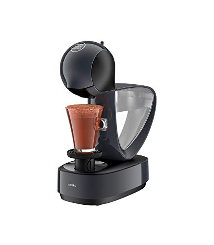 Krups Nescafé Dolce Gusto Infinissima KP173B Kapsel Kaffeemaschine (für heiße und kalte Getränke, 15 bar Pumpendruck, manuelle Wasserdosierung, 1,2 l Wassertank, Abschaltautomatik) cosmic grey