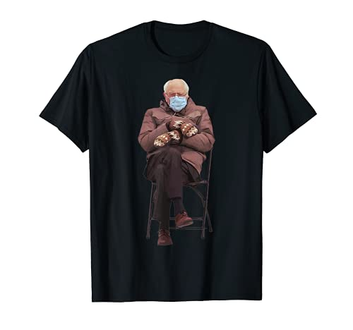 Bernie Sanders Inauguration 2021 Silla y Mitones Meme Camiseta
