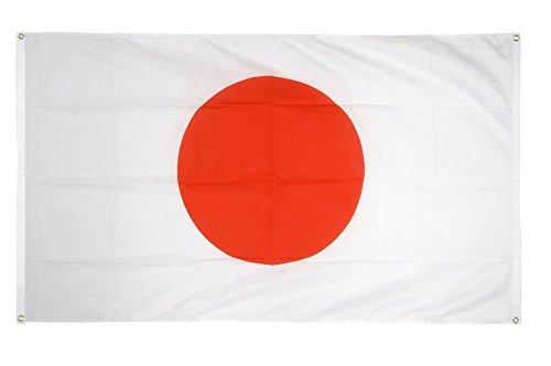 Digni Drapeau de Balcon (avec 4 Oeillets) Japon - 90 x 150 cm Sticker Gratuit