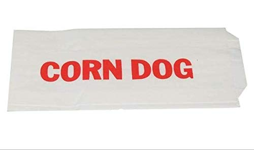 Tabletop king 3' x 3/4' x 7' Printed Paper Corn Dog Wrapper - 1000/Case